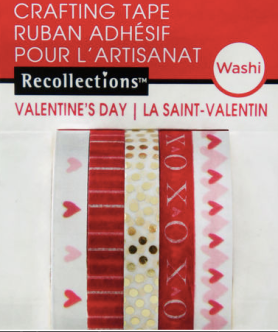 Image of valentine's day themed washi tape
