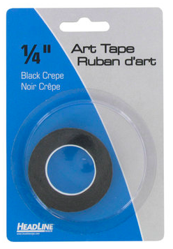 Image of black crepe art tape